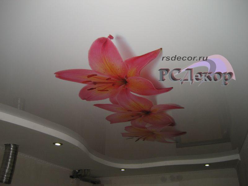 Цвет галактика на потолке